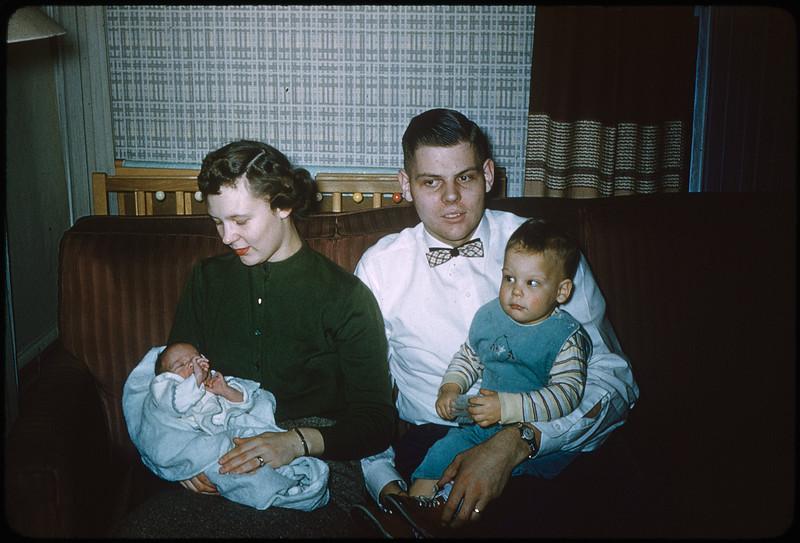 "2/20/1955 ""Deborah, Jo Ann, Wendell, Vincent"" 35mm Kodachrome slide Mount dated March 1981 (remounted?) Stamped #2"