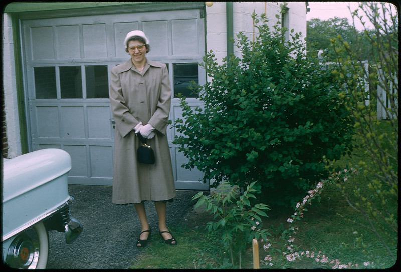 """5/8/1955 """"Grace, 420 Mertland"""" 35mm Kodachrome slide Mount dated March 1981 (remounted?) Stamped #7"""