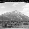 Cascade Mt. taken inside of Upper Hot Sulphur Springs, Banff. July 1937