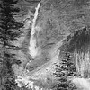 Takkakkaw Falls, British Columbia. The torrent drops from the edge of the precipice in three leaps totaling over 1600 ft. which is ten times as high as Niagara.