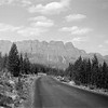 Castle Mountain between Banff and Lake Louise. July 1937