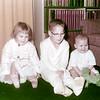 Debbie, Vince, Cindy. Kodacolor Print, week of Nov 30, 1957.