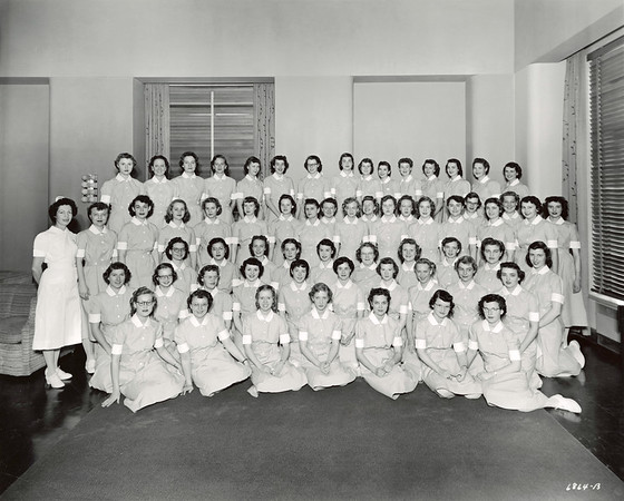 """""""Jo Ann, 1952"""" Back row, 5th from left. Photo by Mile High Photo, Denver."""