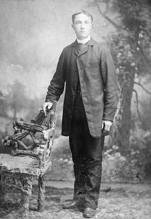 """""""Henry Peter DeVries - 24 yrs. old."""" [about 1891]  Photo by Simpson, 223 Market St, Paterson, NJ"""