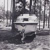 Jack's boat behind Peach Drive House, 1961