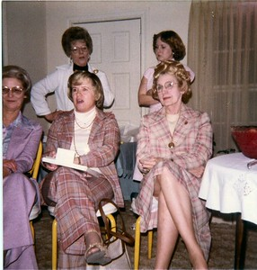 back: something Dickson, Sherry Riddle front: Betty McDonald, Virginia Teer, Eliz