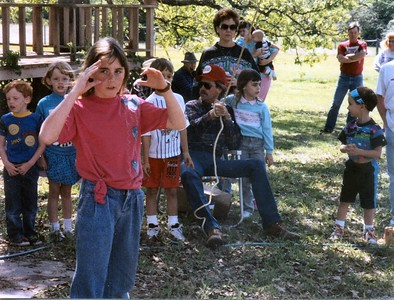 Unknown kids, Katie, Unknown kid, David, Mary Lynn, Jenna, Matt Back: Foy, Stacy, Justin, Bill, Jamie White (Karen's friend)