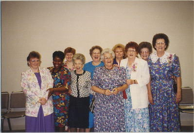 unk, Cynthia Burdick, unk, maybe June Stacy, Mary Smith, unk, Beverly Wilson, Evelyn Wiese, Mabel, Golda