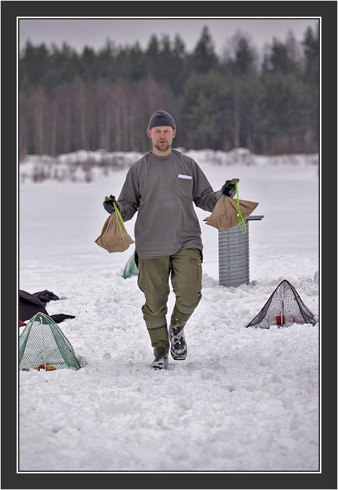 Raimo. <br /> <br /> Filming for Grouse documentary, Koskenpää, March 2004