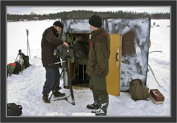 Filming for Grouse documentary, Koskenpää, March 2004