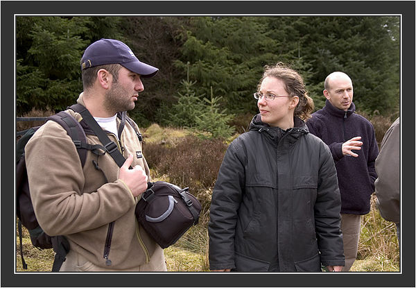 Tanja Viio (Sweden) &  Zurab Javakhishvili (Georgia)<br /> <br /> Black Grouse Congress, Ruthin, North Wales, March 2005.