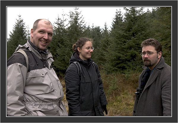 Professor JAcob Höglund (Sweden), Tanja Viio (Sweden), Jobs-Karl Larsson (Sweden),<br /> <br /> Black Grouse Congress, Ruthin, North Wales, March 2005.