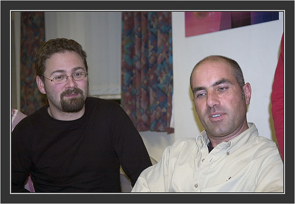 Karl & Raphael<br /> <br /> Black Grouse Congress, Ruthin, North Wales, March 2005.