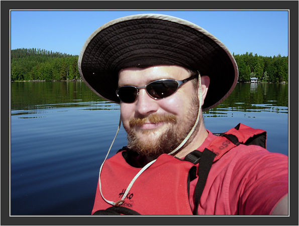 Daytour paddling on Lake Päjänne, July 2005.