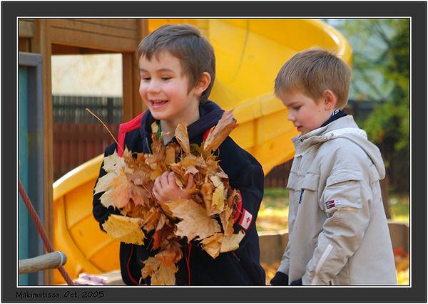 With Leif at Mäki-Matti playground. October 2005.