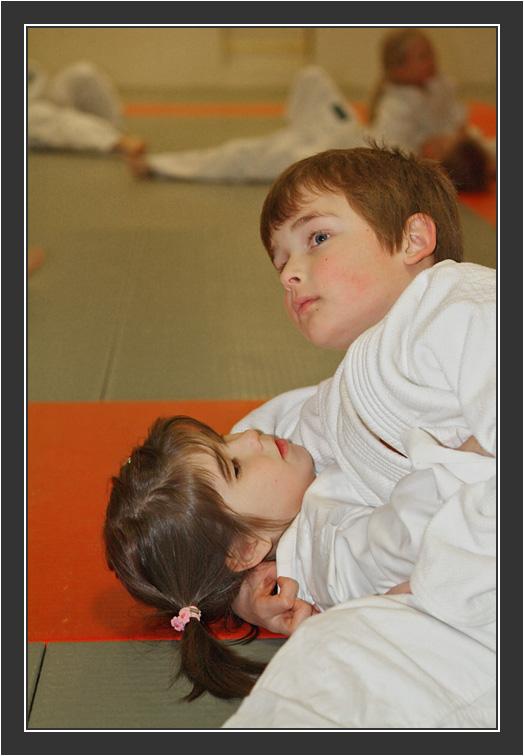 Iina's first Judo degree. December 2005.