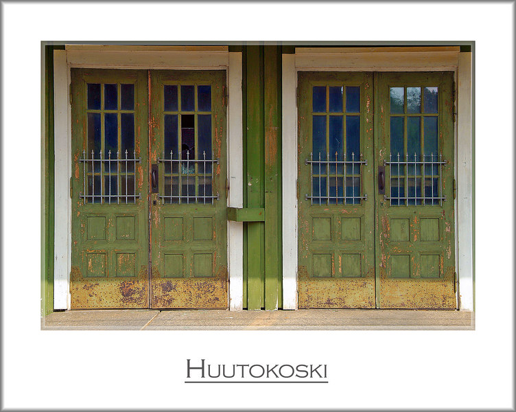 Two doors. No entrance.