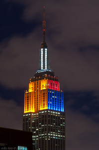 Colors of the Empire State Building