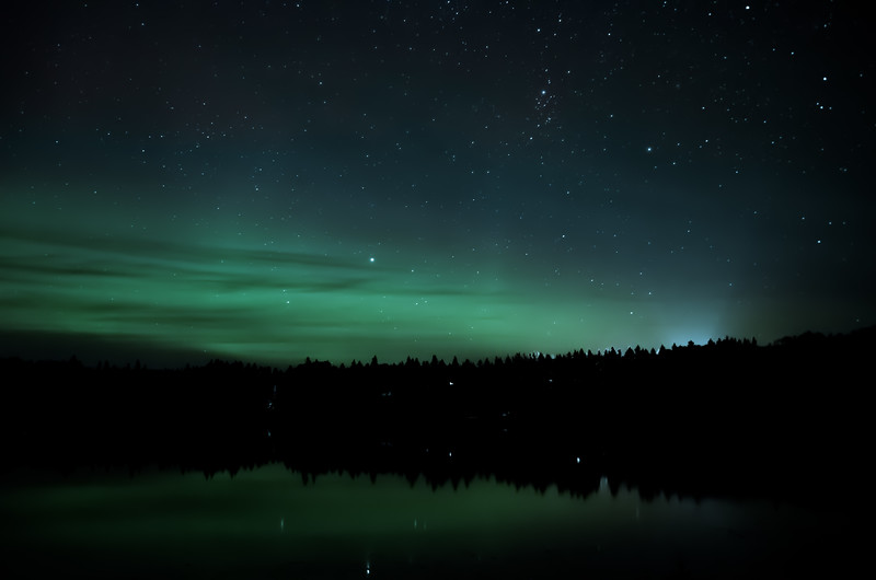 Northern Lights on the Lake