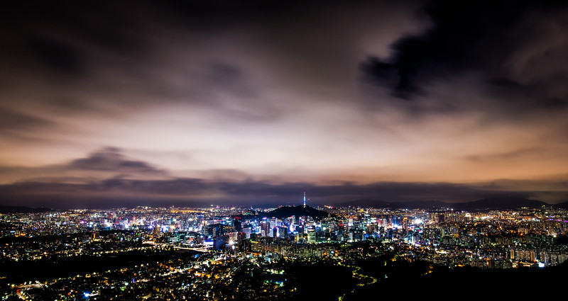 Dark Night Seoul Panorama