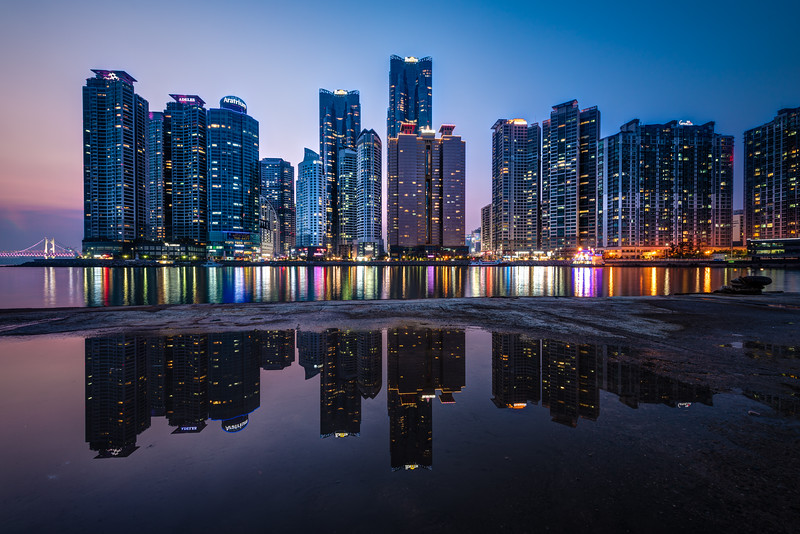 Marine City at Night - Busan, Korea