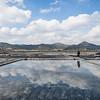 Reflections of Gomso Salt Farm
