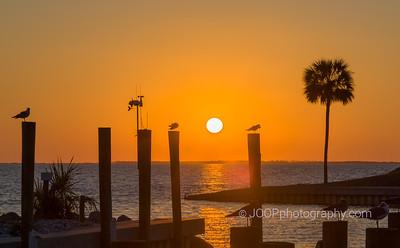 Sunset at the Marina of Port St. Joe
