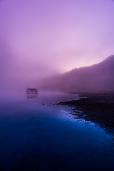Misty Twilight at the Reservoir