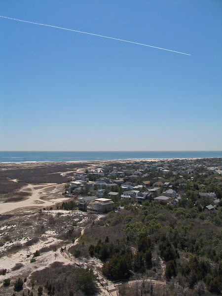 View of the beach from the Barnegat Lighthouse, Barengat, NJ
