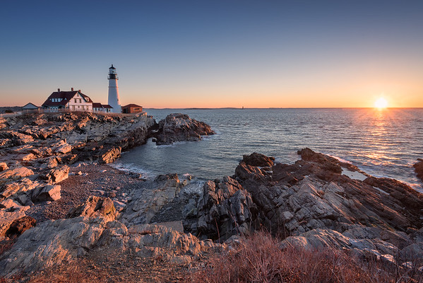 Sunrise at Portland Head Lighthouse