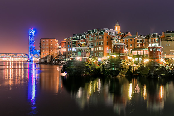 Nightscape of Portsmouth NH