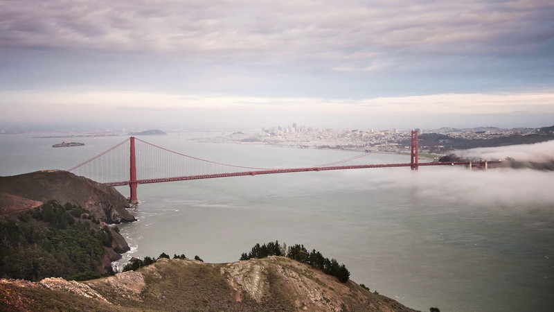 VIDEO - Time lapse of Golden Gate Bridge in San Francisco, CA