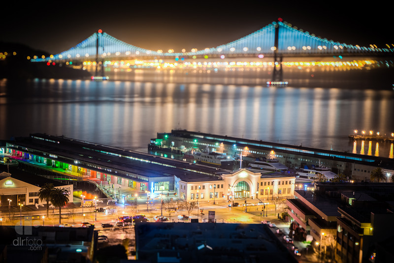 Fisherman's Wharf and Bay Bridge - San Francisco, CA