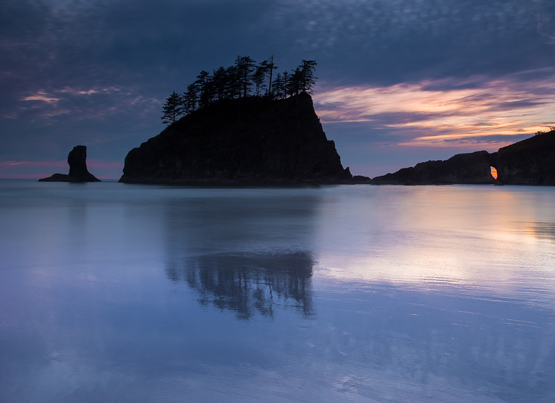 Second Beach Sunset at Olympic National Park