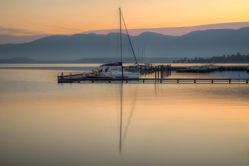 Dawn at Flathead Lake, Polson, Montana