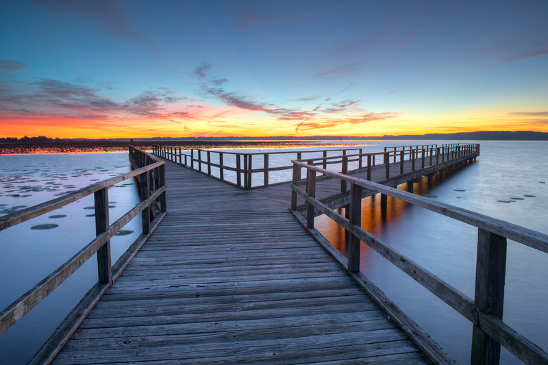 October Dawn at Hwy  43 Pier