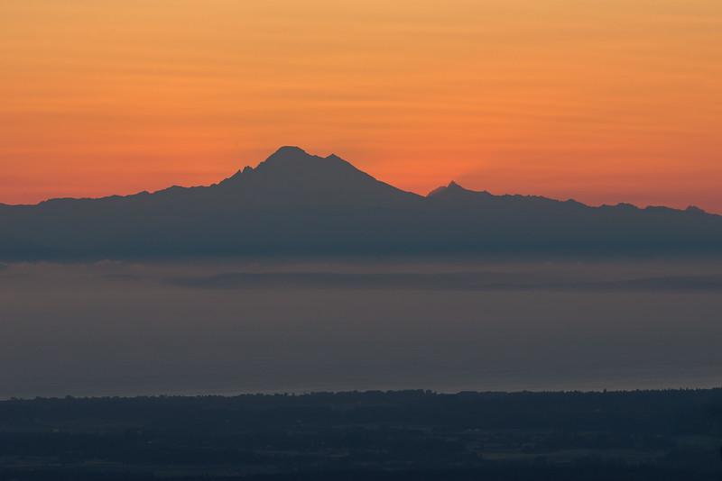 Mountain Ridge Sunrise From Hurricane Ridge Road.