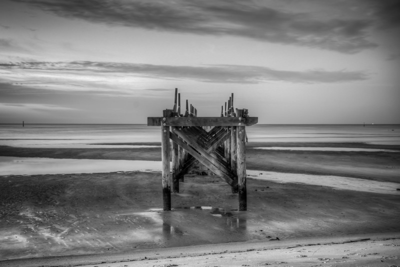 Decaying Pier Monochrome