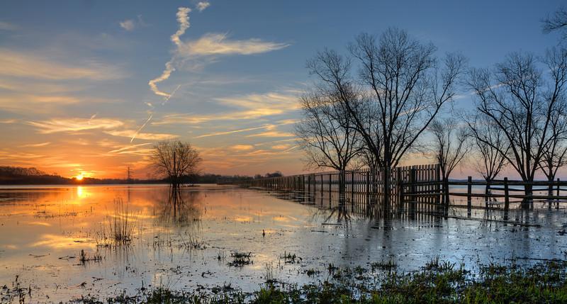 Sunrise at Ross Barnette Reservoir WMA