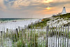 Looking west at sunset on the beach in one of our favorite places to get away from it all, Seaside, Florida.