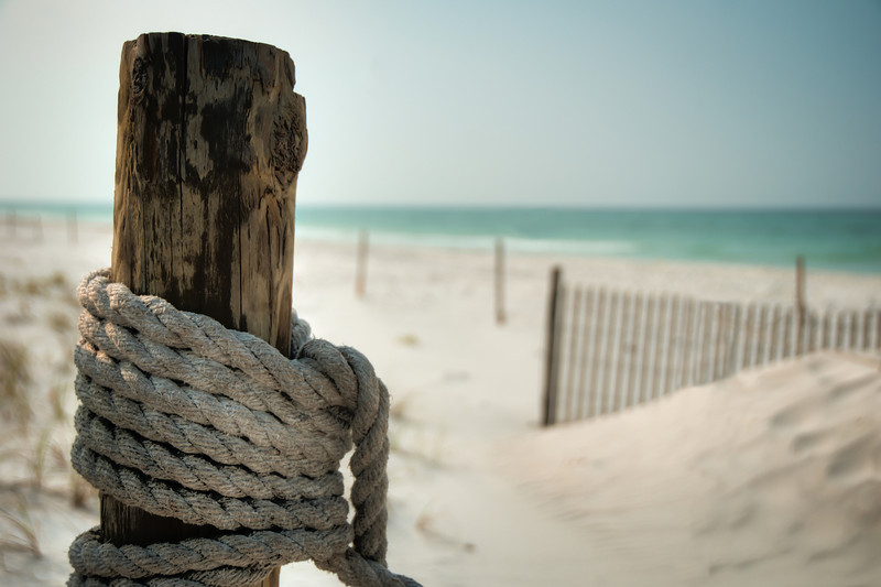 Fence Post View of the Ocean