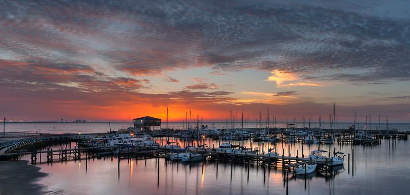 Dawn at Long Beach Horbor