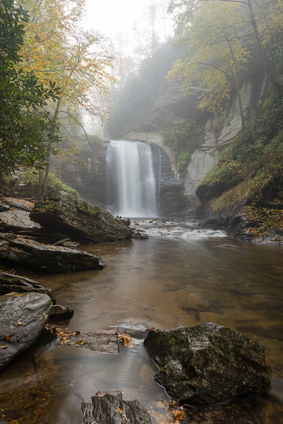 Long view of Looking Glass Falls