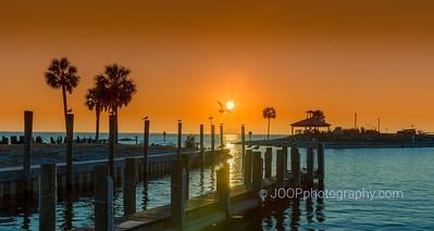 Sunset at the Marina of Port St. Joe