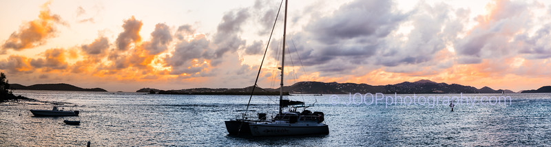 Sunset from Cruz Bay harbor, St. John