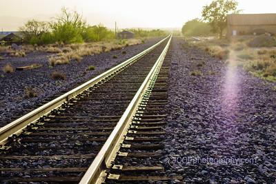 Railway into the Sunset