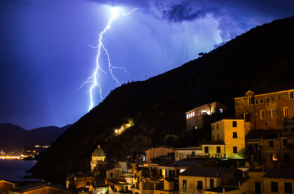 Lightning on the Cinque Terre