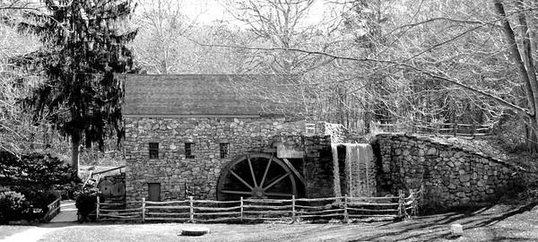 Grist Mill at the Wayside Inn B&W