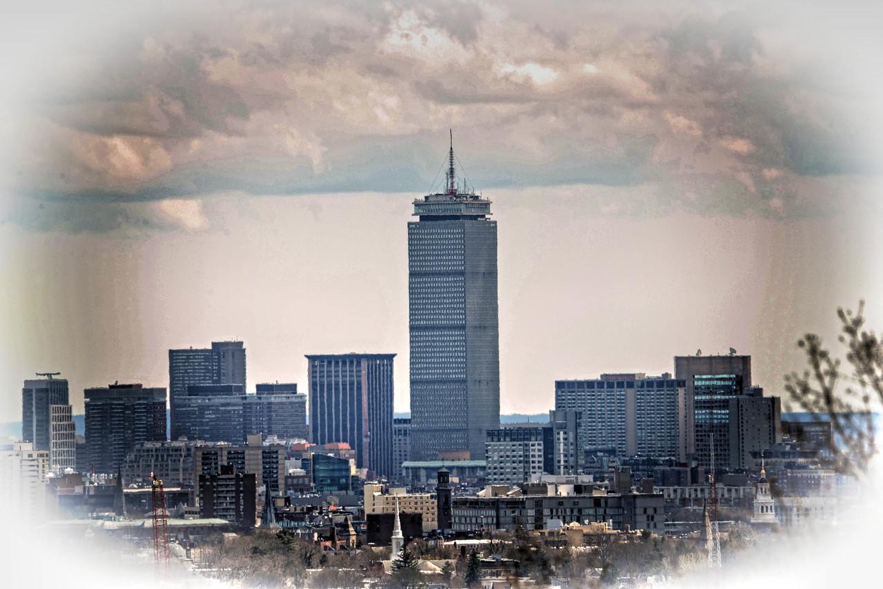 Boston Skyline Vignette