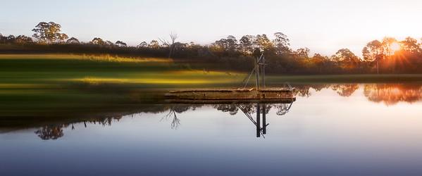 Sunset on the dam.